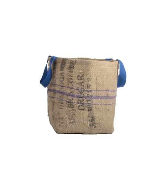 Bag Blue- contenant en jute