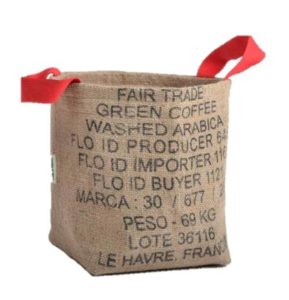 Bag Orange- contenant en jute