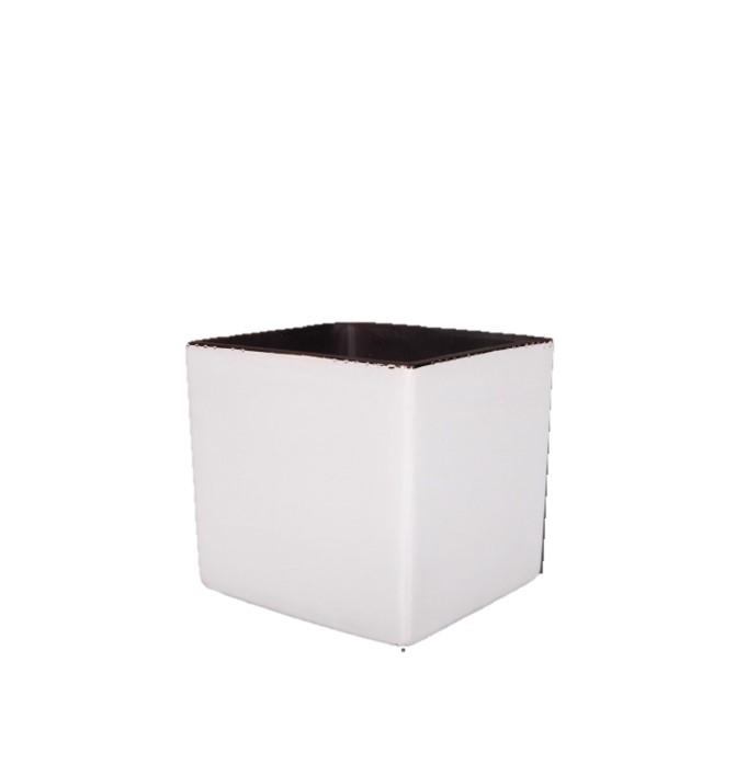 Cube en céramique blanc